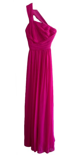 Preload https://img-static.tradesy.com/item/2315369/monique-lhuillier-fuschia-chiffon-one-shoulder-450024-feminine-bridesmaidmob-dress-size-2-xs-0-0-540-540.jpg