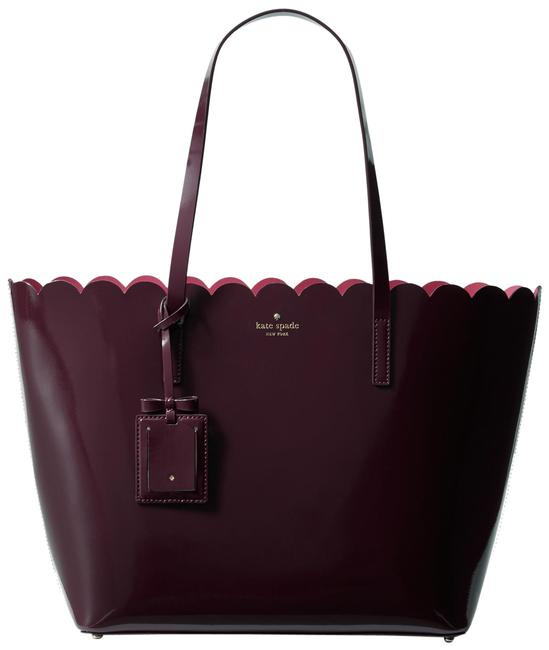 Item - Shoulder Bag Large Lily Avenue Carrigan Mahogany Patent Leather Tote
