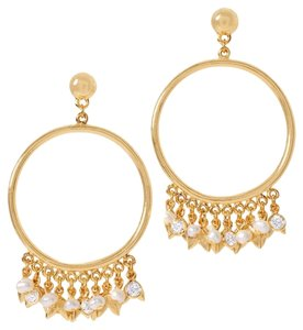 White House | Black Market dangle hoop earring with mother of pearl