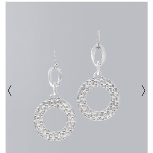 White House | Black Market basketwater circle drop earring