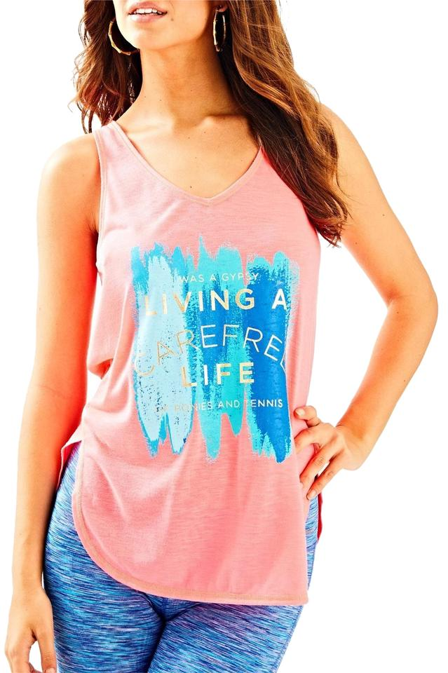 7c86baf3cf Lilly Pulitzer Orange Women's Luxletic Brooke Color Bn Tank Top/Cami ...