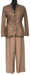 Liancarlo Liancarlo Saks Fifth Avenue Rose Gold Lace and Silk Pant Set 8
