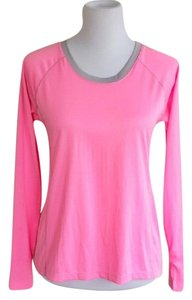 Avia Bright Soft Exercise Comfortable Machine Washable T Shirt pink and grey