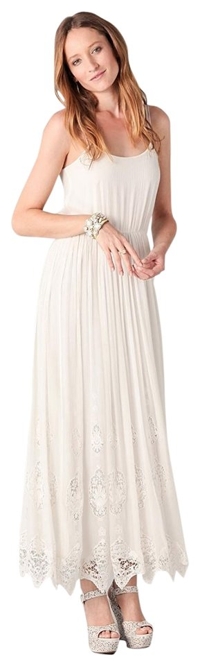 White Maxi Dress By Alice Olivia Wedding Spring Lace Silk