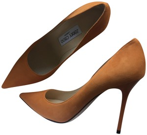 Jimmy Choo Burnt Orange Suede Pumps