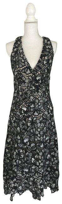 Item - Black White Natural Noreen Butterfly Long Formal Dress Size 10 (M)