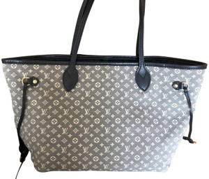 56c16d83c1ce Louis Vuitton Neverfull Mm Monogram Idylle Encre Tote Navy Blue   White  Leather and Canvas Shoulder Bag 44% off retail