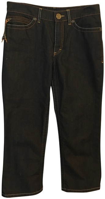 Item - Iridescent Dark Navy Blue Coated Capri/Cropped Jeans Size 29 (6, M)