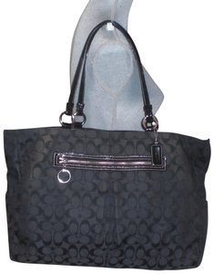 Coach Black Diaper Bag