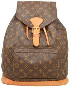 Louis Vuitton Montsouris M51135 Brown Monogram Backpack - Tradesy 63bef5ae2e8eb