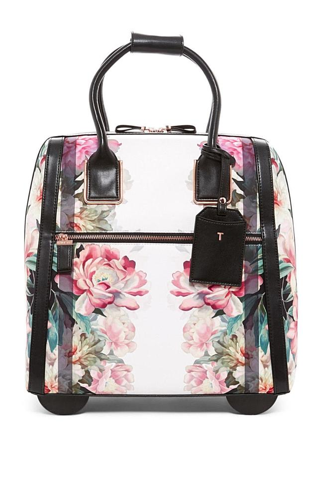 b5cd506072b60 Ted Baker Polyester Suitcase Painted Posie Carry On Baby Pink Travel Bag  Image 0 ...