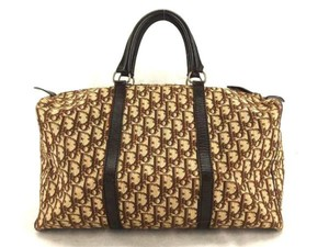 e19572f2d5d4a4 Added to Shopping Bag. Dior Runway Vintage New Oblique Monogram Satchel in  Brown
