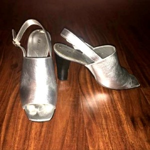 Anne Klein Silver & Black Sandals