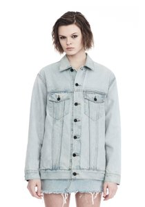 Alexander Wang Light Aged Indigo Blue Womens Jean Jacket
