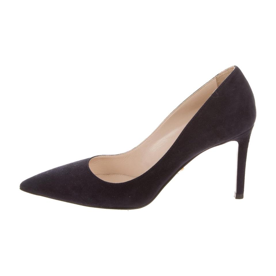 33aa59abe776 Prada Navy Blue Pointed-toe Pumps Size US 6 Regular (M