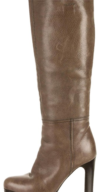 Item - Olive Green / Grey Leather Boots/Booties Size US 6 Regular (M, B)
