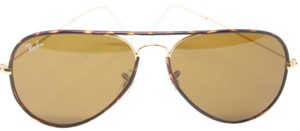 Ray-Ban Signature Large RB3025 Aviator Full Havana Brown Gold