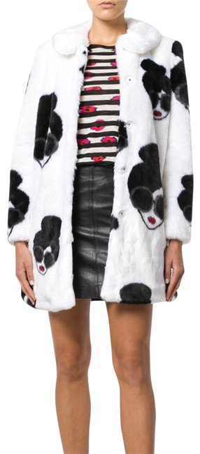 Item - Black White Stace Face Coat Size 6 (S)