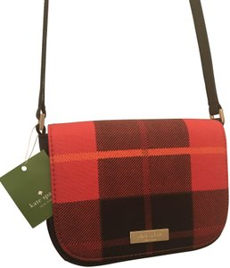 Kate Spade Plaid Shoulder Carsen Cross Body Bag