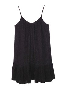 Madewell short dress Black Daisy Lace Peplum on Tradesy