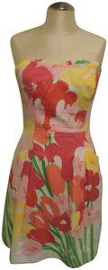 Lilly Pulitzer short dress Multi-Color floral print Worn Once Great Condition on Tradesy
