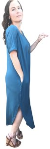 Teal Maxi Dress by Annabelle Short Sleeve Maxi With Pockets Summer Maxi Plus Size Maxi