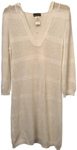 Tommy Bahama White Mesh Cover up with hood