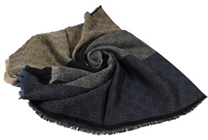 Gucci Gucci Women's GG Navy Blue Scarf 421078