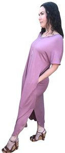 Pink Maxi Dress by Annabelle Short Sleeve Maxi With Pockets Summer Maxi Maxi Kaftan