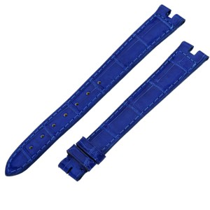 Cartier Cartier Royal Blue Alligator Leather Watch Band Strap New 19MM