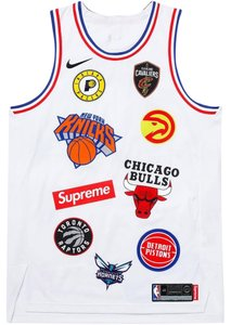 Supreme x Nike BRAND NEW MEN'S SUPREME NIKE NBA TEAMS AUTHENTIC JERSEY WHITE SS18 M