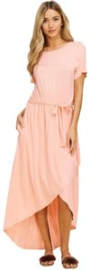 Peach Maxi Dress by Annabelle With Pockets Wrap Maxi Vacation