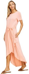 Peach Maxi Dress by Annabelle With Pockets Wrap Maxi Cover Up