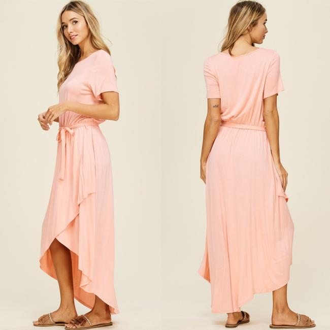 Peach Maxi Dress by Annabelle With Pockets Wrap Maxi Cover Up Image 2