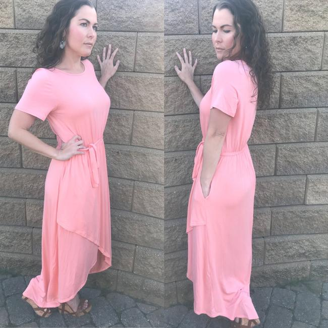 Peach Maxi Dress by Annabelle With Pockets Wrap Maxi Cover Up Image 3