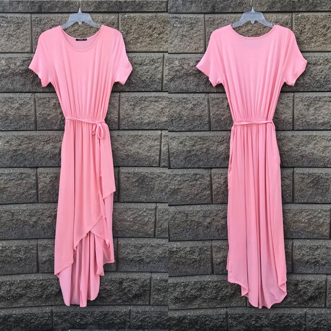 Peach Maxi Dress by Annabelle With Pockets Wrap Maxi Cover Up Image 5