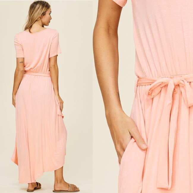 Peach Maxi Dress by Annabelle With Pockets Wrap Maxi Cover Up Image 6