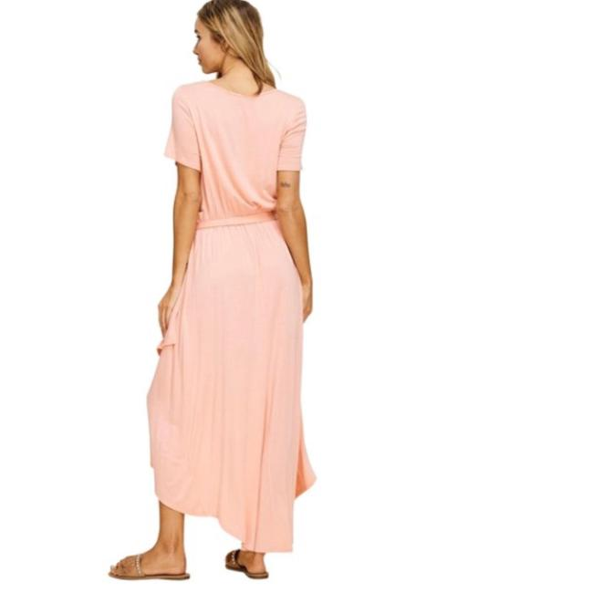Peach Maxi Dress by Annabelle With Pockets Wrap Maxi Cover Up Image 7