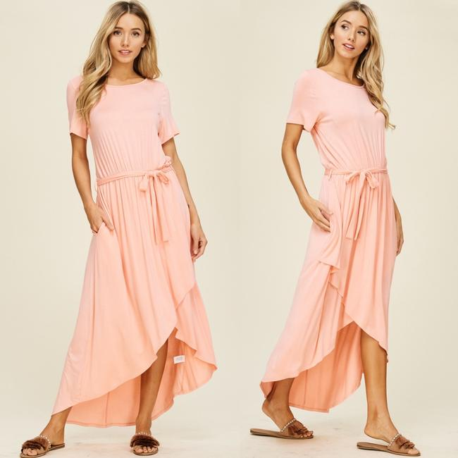 Peach Maxi Dress by Annabelle With Pockets Wrap Maxi Cover Up Image 8