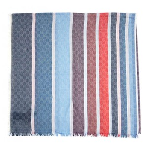 Gucci Gucci Women's Red Stripped Scarf