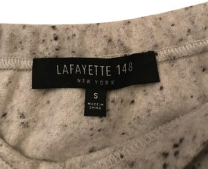 Lafayette 148 New York Wool A-line Skirt Cream/speckled
