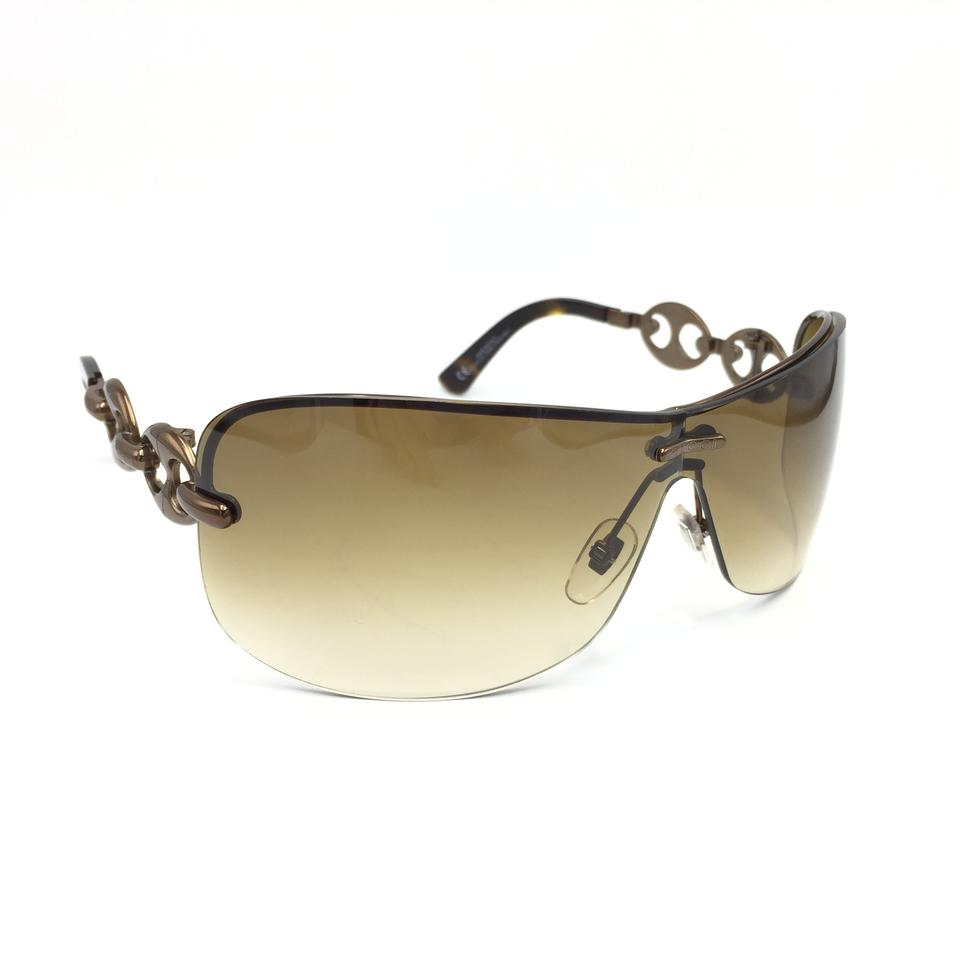8bd4a991800 Gucci Chocolate Chain Link Shield Gradient Sunglasses GG2772 S CBXIS Image  0 ...