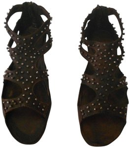 Baldinini Cut Outs Attractive Design Comfortable Made In Spain Brown Sandals