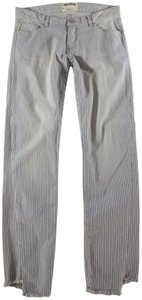 Zadig & Voltaire Jeans Striped Leg Straight Pants Cream, Blue