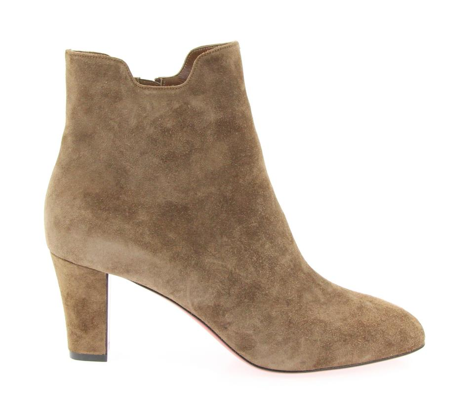 2e5bf52fb371 Christian Louboutin Brown Tiagadaboot 70mm Veau Velours Boots Booties