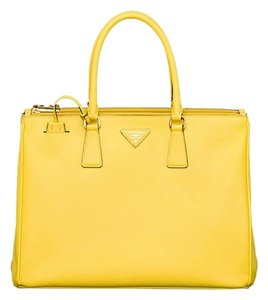 Prada Luxury Leather Gold Tote in Yellow