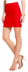 BCBGMAXAZRIA Bandage Sexy Chic Trendy Mini Skirt Red