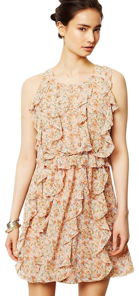 Sachin Babi Short Dress Peach Fl Ruffle On Tradesy