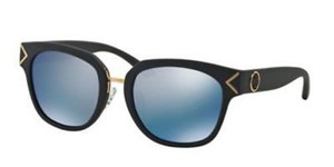 Tory Burch Tory Burch Women Sunglasses TY9041 143822 Matte Black Frame Blue Lens