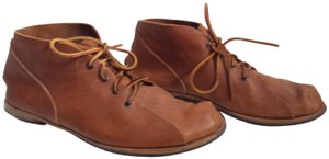 CYDWOQ Men's Leather Lace Up Handmade Brown Boots